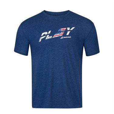 Babolat Exercise Country USA Tee Shirt Mens Estate Blue Heather 4MS20444 4005
