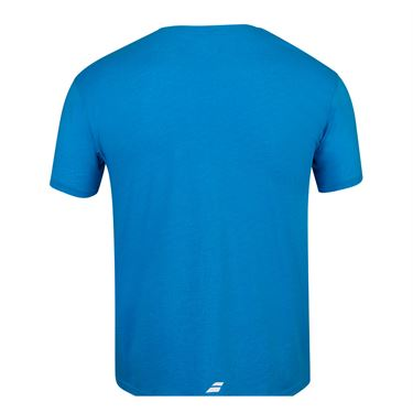 Babolat Exercise Flag Message Tee Shirt Mens Blue Aster Heather 4MS20445 4052