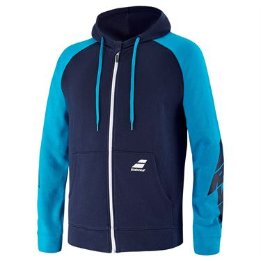 Babolat Drive Hooded Jacket Mens Drive Blue 4US21121X 4086