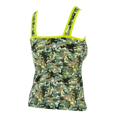 Bpassionit GI Girl Crossover Printed Tank - Camouflage