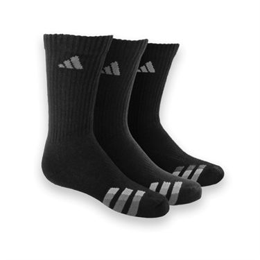 adidas Cushion 3 Pack Crew Sock -Black/White