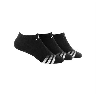 adidas Cushioned No Show Sock (3 pack) - Black/White