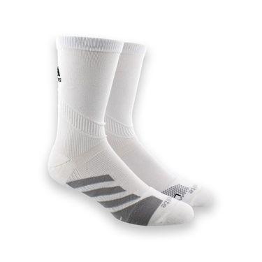 adidas Traxion Tennis Crew Sock - White/Light Onix