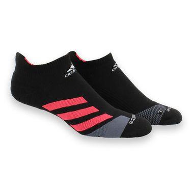 adidas Tennis Traxion No Show Sock - Black/Shock Red/Onix/White