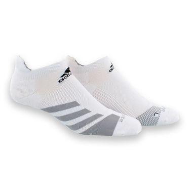 adidas Tennis Traxion No Show Sock - White/Light Onix/Black