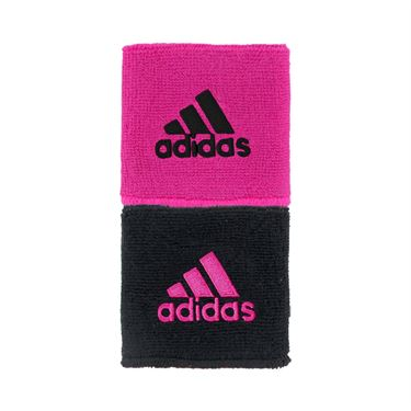 adidas Interval Reversible Wristband - Pink/Black