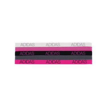 adidas Creator Hairband 5 Pack - Grey/White/Black/Shock Pink