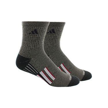 adidas Climalite X II Mid Crew Sock (2 Pack) - Black/Graphite Marl/Onix