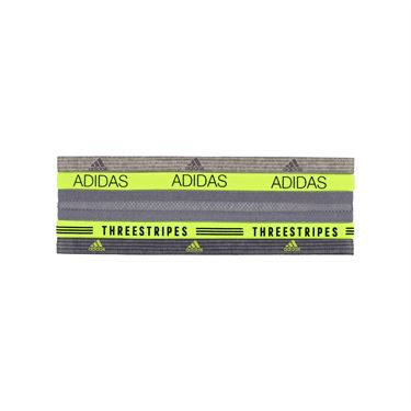 adidas Creator Plus Hairband 5 Pack - Black/Onix/Solar Yellow