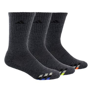 adidas Cushioned Color Crew Sock ( 3 Pack) - Black/Blue/Yellow/Orange