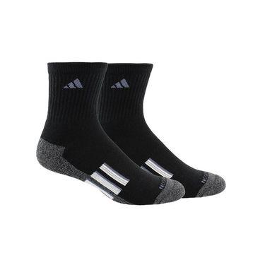 adidas Climalite X II Mid Crew Sock (2 Pack) - Black/Onix/White