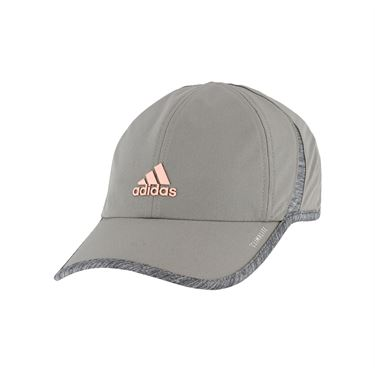 adidas Womens SuperLite Cap - Light Onix/Light Grey Heather/Clear Orange