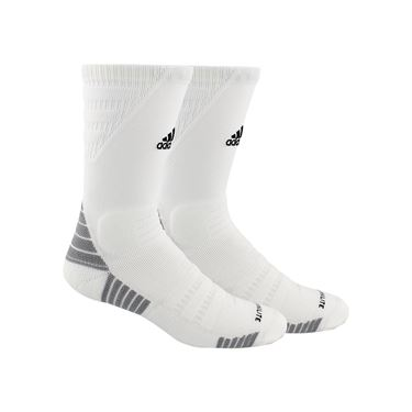 adidas Alphaskin Maximum Cushioned Crew Sock - White/Black/Light Onix