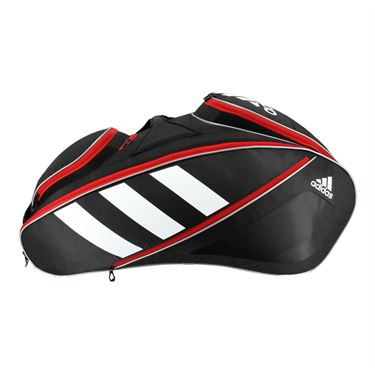 adidas Tour Tennis 12 Pack Tennis Bag - Black/White/Scarlet