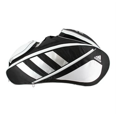 adidas Tour Tennis 12 Pack Tennis Bag - Black/White/Silver