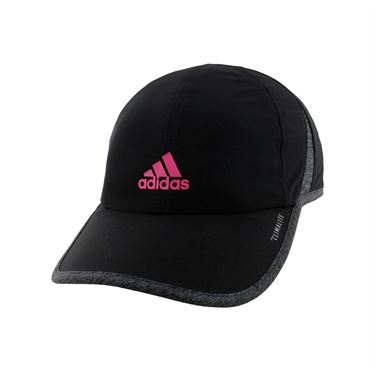 adidas Womens SuperLite Cap - Black/Dark Heather Grey/Real Magenta