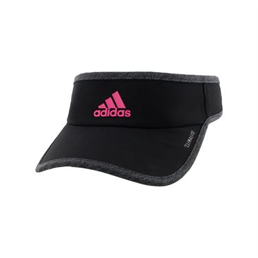 adidas Womens SuperLite Visor - Black/Dark Heather Grey/Real Magenta