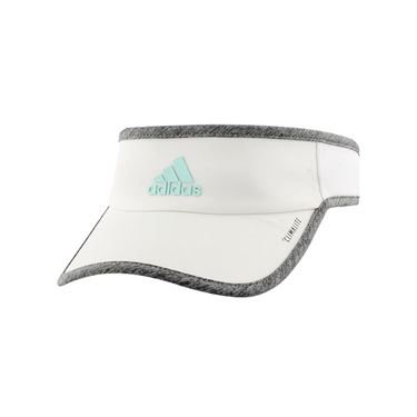 adidas Womens SuperLite Visor - White/Light Heather Grey/Clear Mint