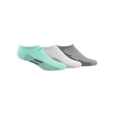 adidas Climacool Superlite Stripe No Show Sock ( 3 Pack) - Clear Mint/Grey/White