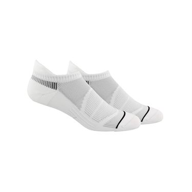 adidas Superlite Prime Mesh III Tabbed No Show Sock (2 Pack) - White/Black