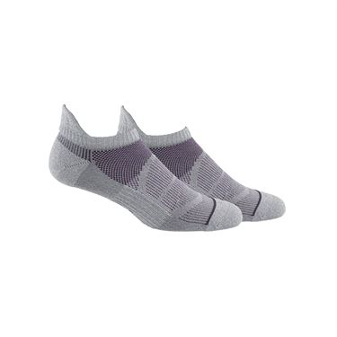 adidas Superlite Prime Mesh III Tabbed No Show Sock (2 Pack) - Grey/Legend Purple