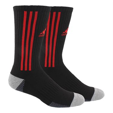 adidas Tiro Crew Sock - Black/Power Red/Onix/Heather Grey