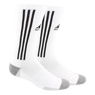 adidas Tiro Crew Sock - White/Black/Clear Onix/Heather Grey
