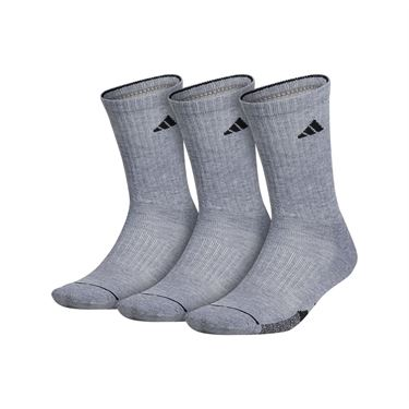 adidas Cushioned II 3 Pack Crew Sock - Grey Heather, Black
