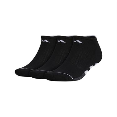 adidas Cushioned II 3 Pack No Show Sock - Black/White/Onix Marl