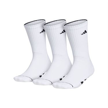 adidas Cushioned II 3 Pack Crew Sock - White/Black/Clear Onix Marl