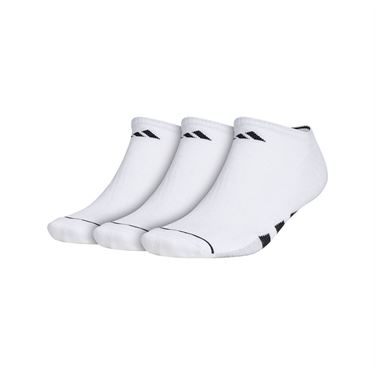adidas Cushioned II 3 Pack No Show Sock - White/Black/Clear Onix Marl