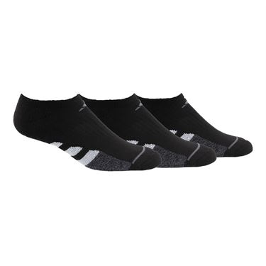 adidas Cushioned II Womens No Show (3 Pack) - Black/Onix/Onix Marl