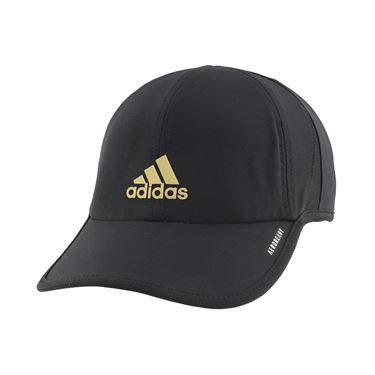 adidas Mens SuperLite Hat - Black/Gold Metallic