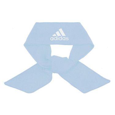 adidas Alphaskin Tie Headband - Sky Tint Blue White
