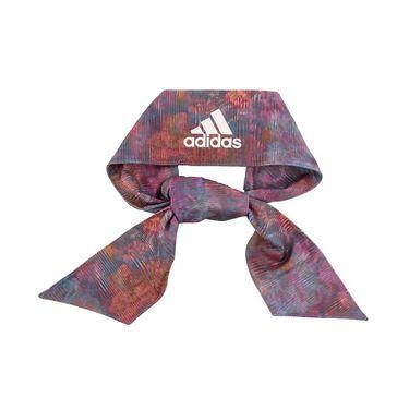 adidas Alphaskin Print Tie Headband - Ocean Floral/White