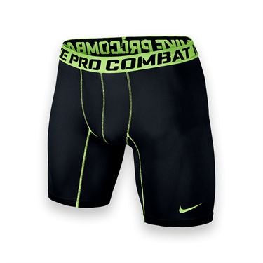 Nike Mens Core Compression Shorts-Black/Volt