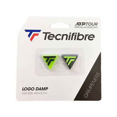Tecnifibre Logo Damp 2 Pack - Lime/Black