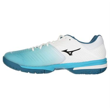 Mizuno Wave Exceed Tour 3 Mens Tennis Shoe - White/Aqua