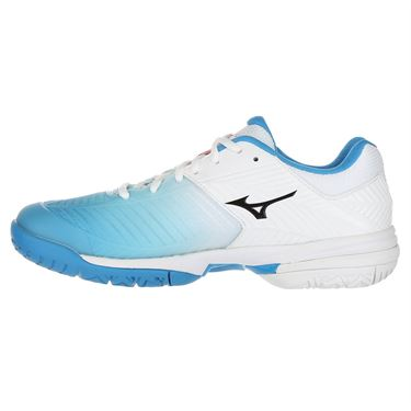 Mizuno Wave Exceed Tour 3 Womens Tennis Shoe - White/Aqua