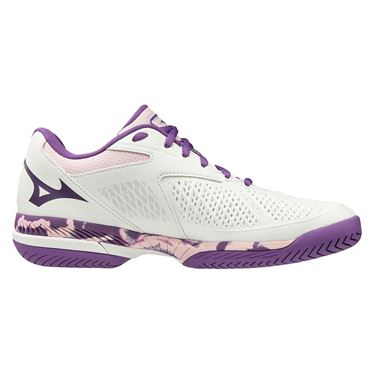 Mizuno Wave Exceed Tour 4 Womens Tennis Shoe White/Purple 550021 0060