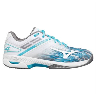 Mizuno Wave Exceed Tour 4 AC Womens Tennis Shoe Scuba Blue/White 550026 SC00