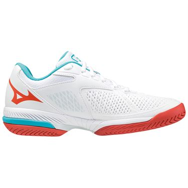 Mizuno Wave Exceed Tour 4 Womens Tennis Shoe White/Light Blue 550030 00SC