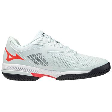 Mizuno Wave Exceed Tour 4 Womens Tennis Shoe White/Grey/Red 550030 WB1H