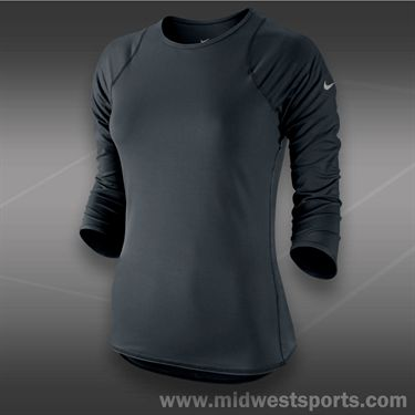 Nike Baseline 3/4 Sleeve Top-Black