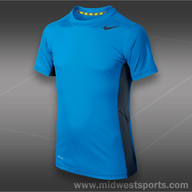 Nike Speed Fly Short Sleeve Shirt-Blue Hero