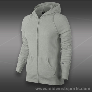 Nike Knit Sweater Jacket-Grey Heather