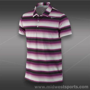 Nike Rally Sphere Stripe Polo- Bright Grape