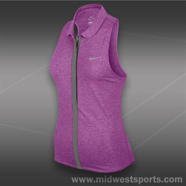 Nike Dri Fit Sleeveless Touch Polo-Noble Violet