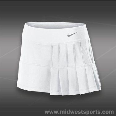 Nike Pintuck Pleated Woven Skirt-White