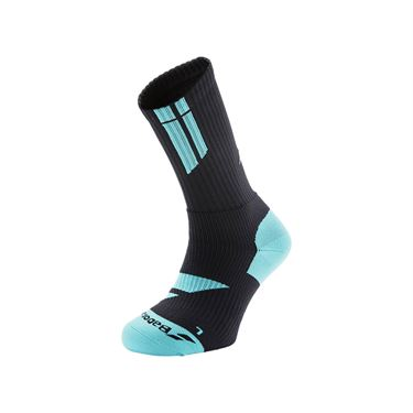Babolat Team Big Logo Tennis Sock - Black/Blue